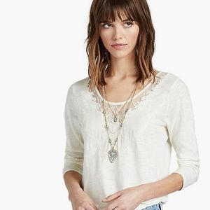 Lucky Brand Etched Turquoise Layer Necklace